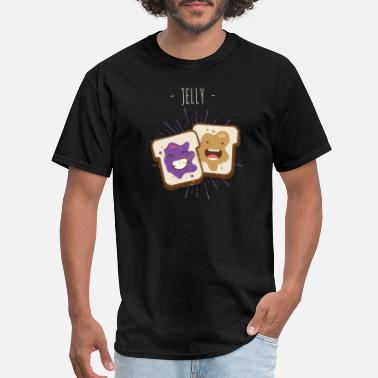Peanut Butter And Jelly Funny Jelly - Peanut Butter Bread Slice - Humor - Men's T-Shirt