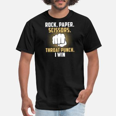 Scissors Scissors - rock paper scissors throat punch i wi - Men's T-Shirt