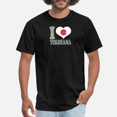 Japan Merchandise I Love Yokohama Japan Nihon Nippon Japanese Flag Pride - Men's T-Shirt