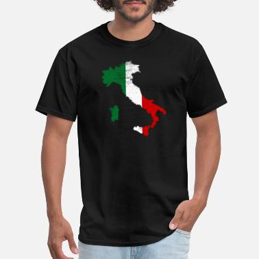 Italian Italian Map Flag - Men's T-Shirt