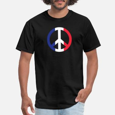 Peace France France Flag Peace Sign Frenchman European Pride - Men's T-Shirt