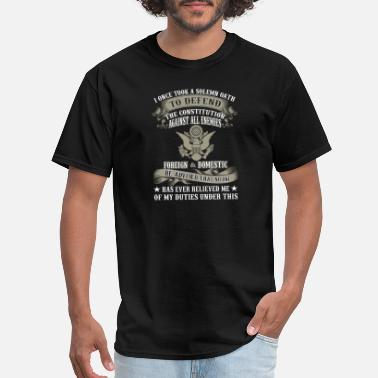 Retired Airforce Veteran combat I once took a solemn oath to defe - Men's T-Shirt