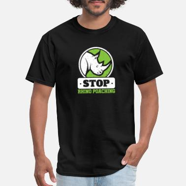 Stop Poaching Stop Rhino Poaching Rhinoceros - Men's T-Shirt