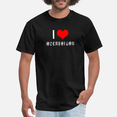 I Love Azerbaijan love Azerbaijan country code gift idea - Men's T-Shirt