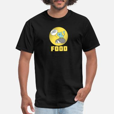 Cat Food cat fish food dreaming cool gift idea - Men's T-Shirt