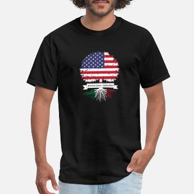 American With Italy Roots American Grown with Italian Roots - Men's T-Shirt