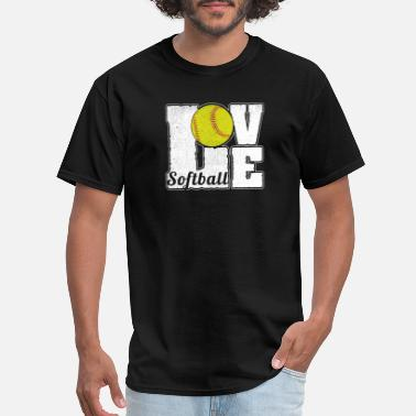 Softball SOFTBALL LOVE - Men's T-Shirt