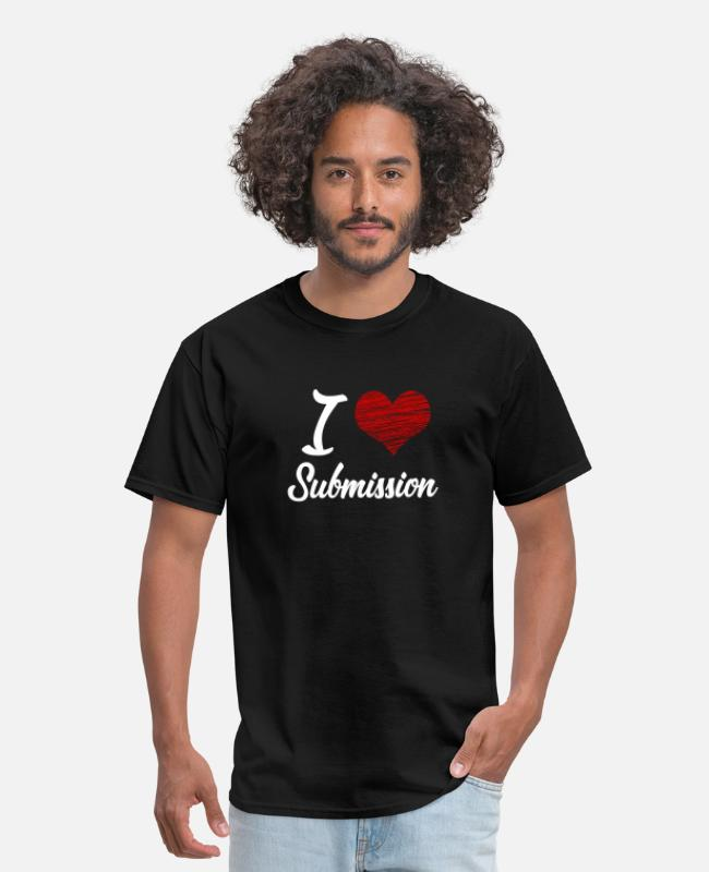 BDSM T-Shirts - I love Submission - Men's T-Shirt black