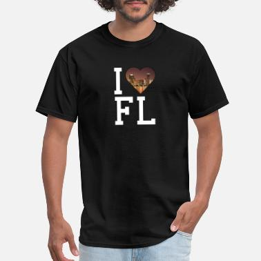 Womens I Love Florida I Love Florida - Florida - Total Basics - Men's T-Shirt