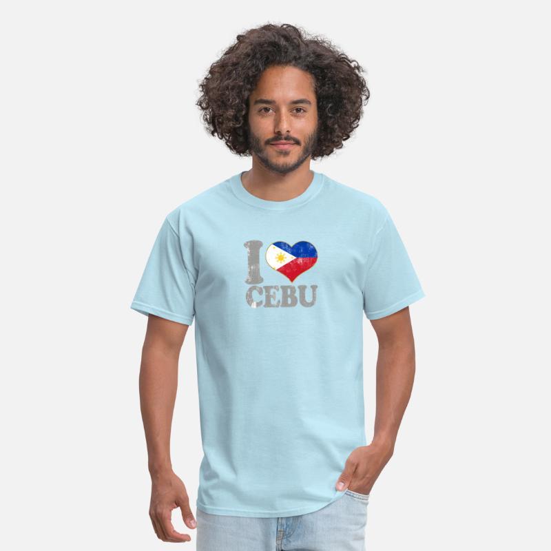 I Love Cebu Philippines Filipino Flag Pride Men's T-Shirt - powder blue