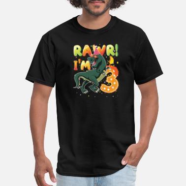 3 Dinosaur Birthday Shirt Years Old Rawr I39m