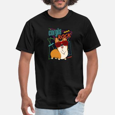 Corgi Dog Corgi Dog CORGIS ROCK - Men's T-Shirt