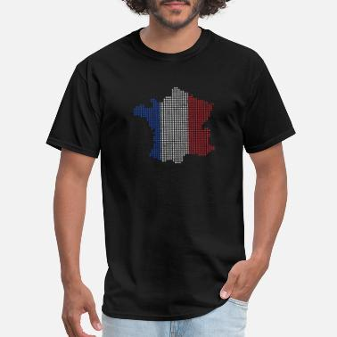 French Kids French Map France Gift Christmas Kids - Men's T-Shirt
