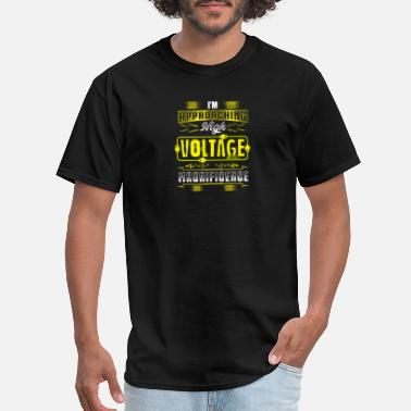 High Voltage Electrical Engineering Approaching high voltage gift - Men's T-Shirt