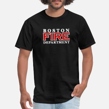 Fathers-day Trucker Boston Fire Department Large Dept Duty Boston papa - Men's T-Shirt