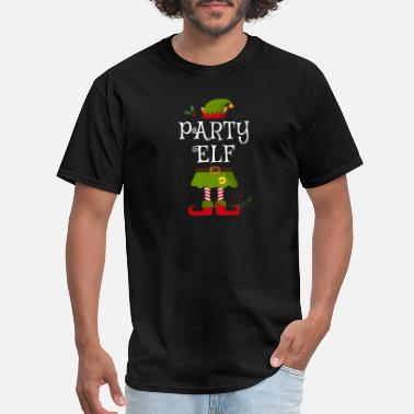 Party Elf Shirt , Family Matching Group Christmas - Men's T-Shirt