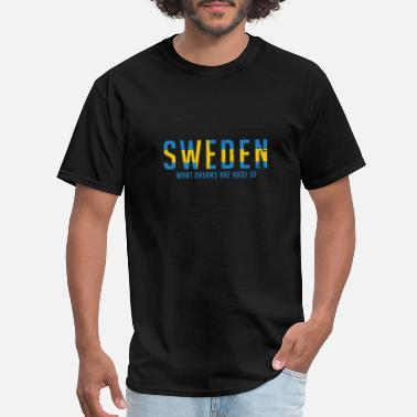 National Colours Sweden swedish flag national colours dreams gift - Men's T-Shirt