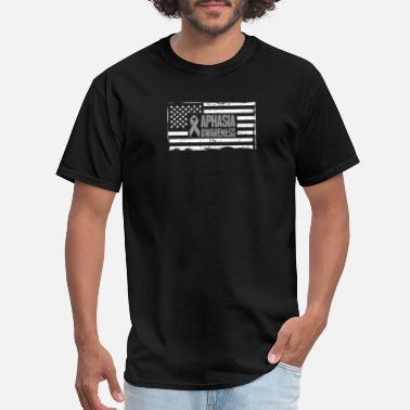 Greys USA Flag - Gift For Aphasia Awareness - Men's T-Shirt
