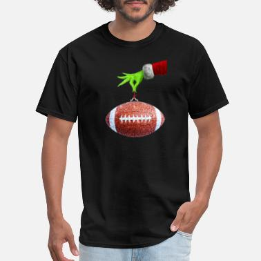 Grinches Funny Christmas Xmas football rugby - Men's T-Shirt