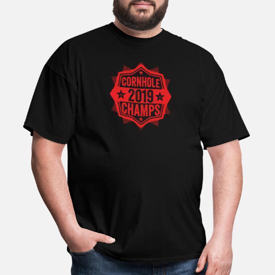 d297c60a Cornhole Champion 2019 T-Shirt Distressed Vintage - Men's T-Shirt. Back.  Back. Design. Front. Front