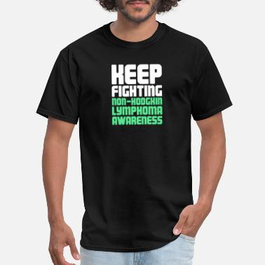 Lime Green Fighting - Non-Hodgkin's Lymphoma Awareness - Men's T-Shirt