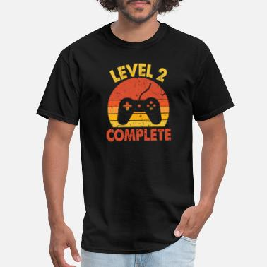 Level 2 Gaming Level 2 Complete gaming gamer husband 2nd marriage - Men's T-Shirt