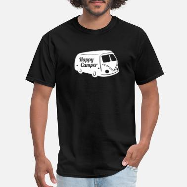 Travel Quotes Happy Camper - Funny Travel Shirt - Men's T-Shirt