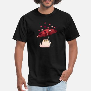 Marriage Heart Cats Valentine Valentinesday gift cat heart - Men's T-Shirt