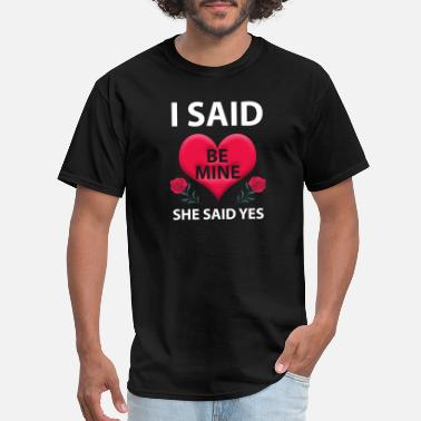 Mie I said be mie she said yes - Men's T-Shirt