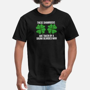 Awesome Boobs these shamrocks are taken by a drunk bearded man - Men's T-Shirt