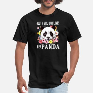 My Daughter In Heaven just a girl who loves her panda animals cute daugh - Men's T-Shirt