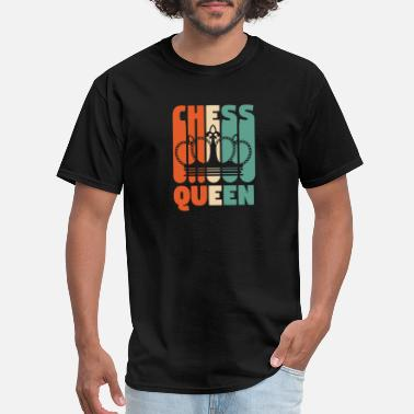Retro Car Vintage Retro Chess Queen Tee Chess Shirt Chess Pl - Men's T-Shirt