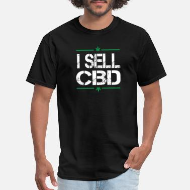 Oil I Sell CBD | CBD Oil Gummies Vape Pain Relief Gift - Men's T-Shirt