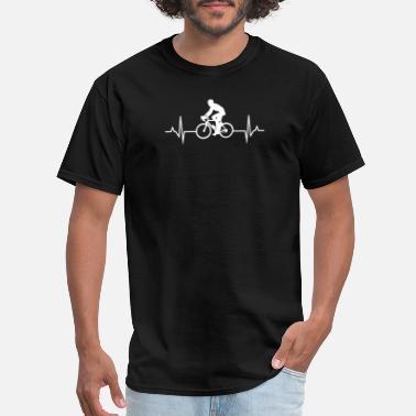 7f4e960883 Heartbeat Cycling heartbeat - gift idea for riders - Men's T-. Men's T- Shirt