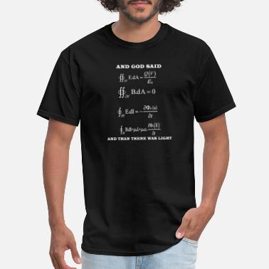 Calculus Maxwell equation magnetism electricity formula - Men's T-Shirt