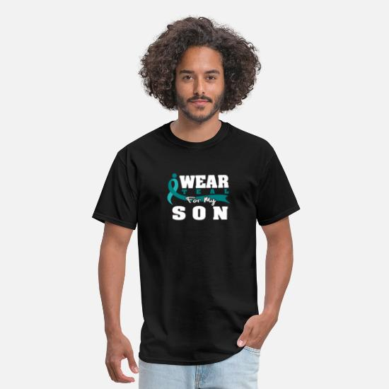 Disease T-Shirts - I Wear Teal For My Son - Polycystic Kidney - Men's T-Shirt black