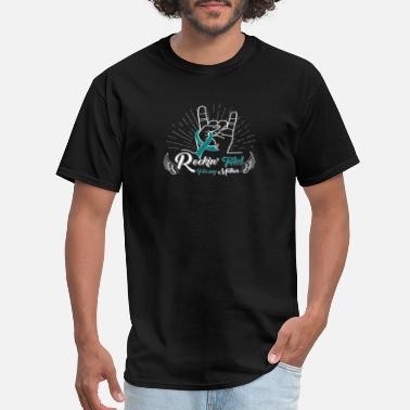 Kidney Warrior Rockin' Teal For My Mother - Polycystic Kidney - Men's T-Shirt