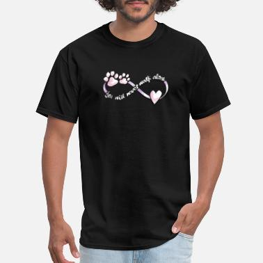 Never Walk Alone Cute Dog Lover Paw Heart - Men's T-Shirt