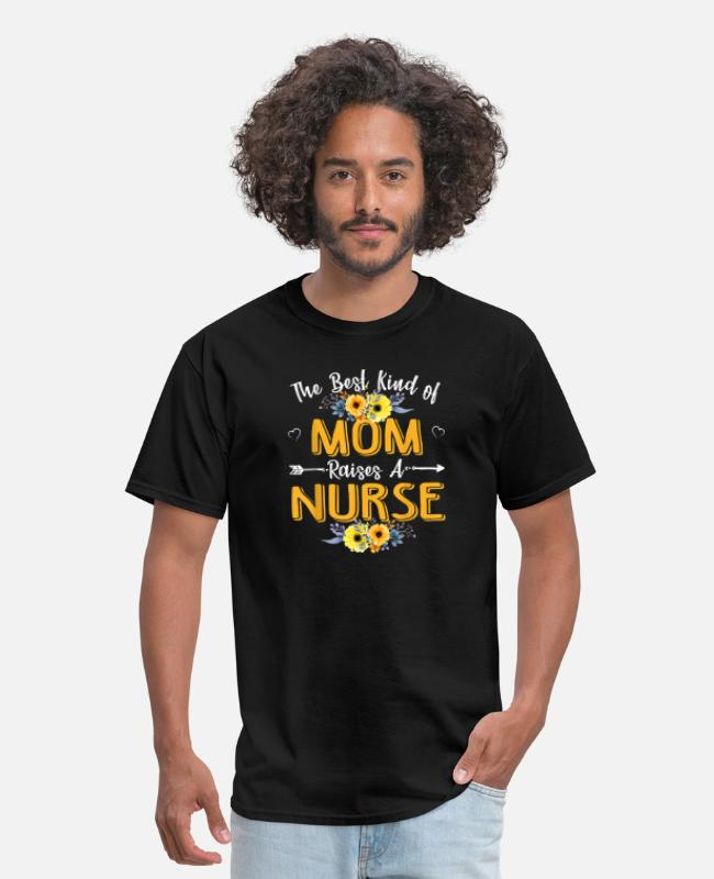 Mummy T-Shirts - The Best Kind Of Mom Raises A Nurse Mothers Day Gi - Men's T-Shirt black