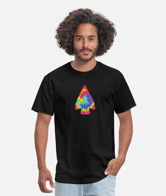 T-Shirts - Arrowhead hunter TIE DYE vintage- Colorful hunting - Men's T-Shirt black