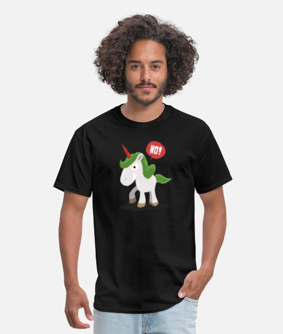 Griffin T-Shirts - Gift No Angry unicorn - Men's T-Shirt black