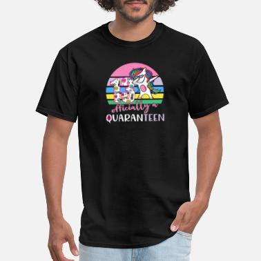 Thirteen Quarantine 13th Birthday Unicorn Gift for Girls - Men's T-Shirt