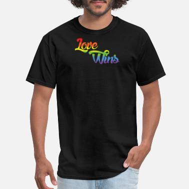 Love Wins Rainbow Flag Love Wins Rainbow T Shirt - Men's T-Shirt