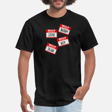 Identity Crisis Identity Theft T-Shirt - Funny Name Tags Cool - Men's T-Shirt