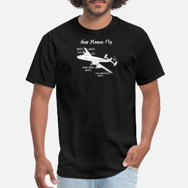 Instrumentation How Planes Fly - Men's T-Shirt