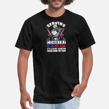 Us Coast Guard Family Vintage US Military Family Its In My DNA Soldier Tshirt - Men's T-Shirt