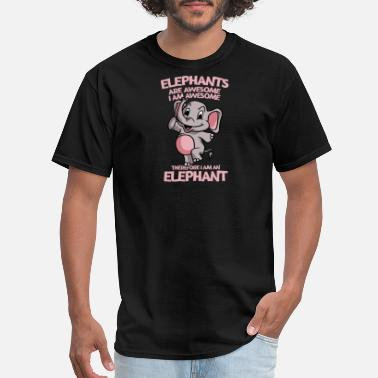 Elephant Apparel Elephants Are Awesome I Am Awesome Funny Elephant - Men's T-Shirt