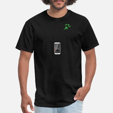 1 Percent RUN LIKE YOUR PHONE IS AT 1 PERCENT - Men's T-Shirt