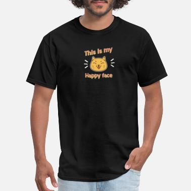 Sweet Pussy Cat Cat Happy Face Kitten Pussy Joke Sweet - Men's T-Shirt