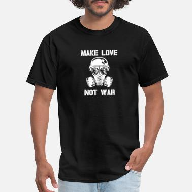 Peace Make Love Not War Make love not war peace sigh - Men's T-Shirt